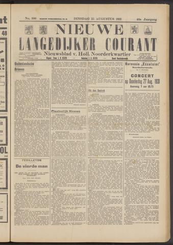 Nieuwe Langedijker Courant 1931-08-25