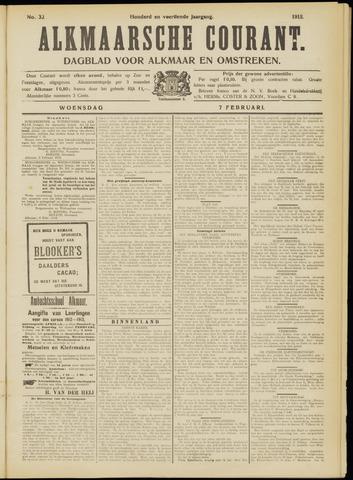 Alkmaarsche Courant 1912-02-07