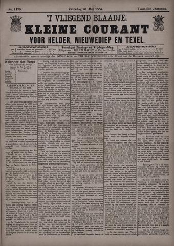 Vliegend blaadje : nieuws- en advertentiebode voor Den Helder 1884-05-31
