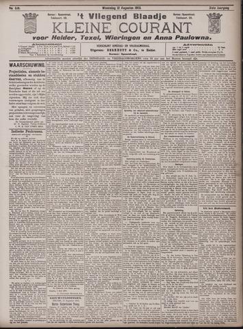 Vliegend blaadje : nieuws- en advertentiebode voor Den Helder 1903-08-12
