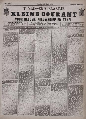 Vliegend blaadje : nieuws- en advertentiebode voor Den Helder 1880-07-20