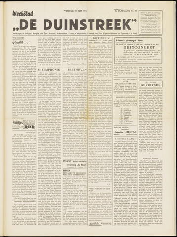 De Duinstreek 1954-07-23