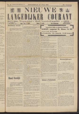 Nieuwe Langedijker Courant 1933-07-27