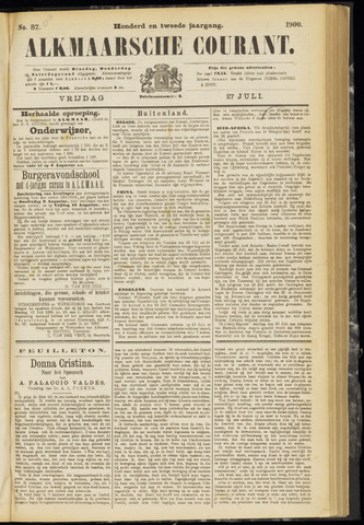 Alkmaarsche Courant 1900-07-27