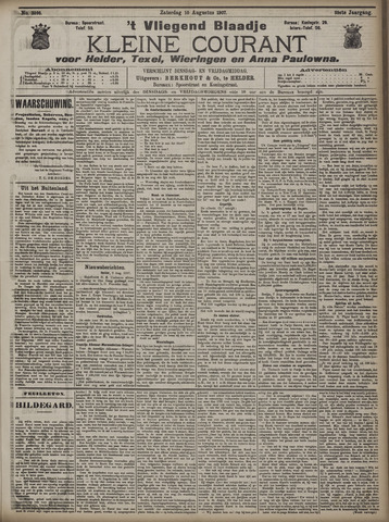 Vliegend blaadje : nieuws- en advertentiebode voor Den Helder 1907-08-10
