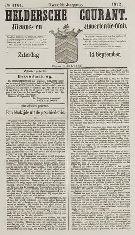 Heldersche Courant 1872-09-14