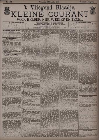 Vliegend blaadje : nieuws- en advertentiebode voor Den Helder 1886-11-10