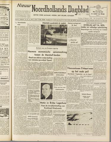 Nieuw Noordhollandsch Dagblad : voor Alkmaar en omgeving 1949-02-18