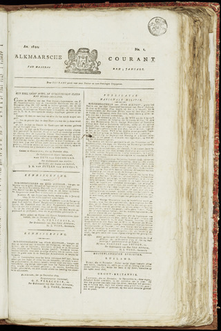 Alkmaarsche Courant 1820-01-03