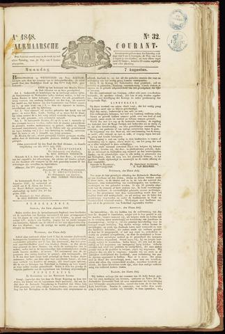 Alkmaarsche Courant 1848-08-07