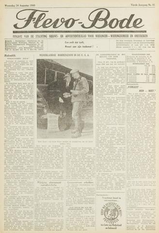 Flevo-bode: nieuwsblad voor Wieringen-Wieringermeer 1949-08-24