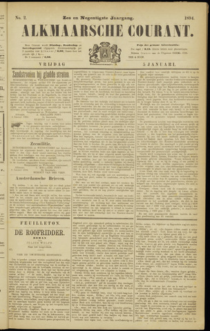 Alkmaarsche Courant 1894-01-05
