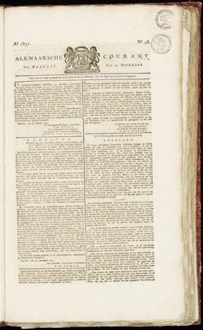 Alkmaarsche Courant 1831-11-14