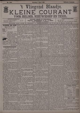 Vliegend blaadje : nieuws- en advertentiebode voor Den Helder 1887-04-02