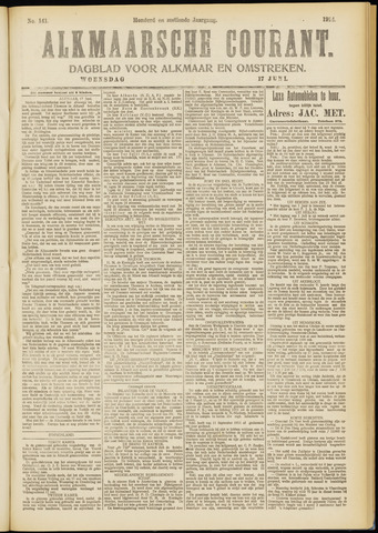 Alkmaarsche Courant 1914-06-17