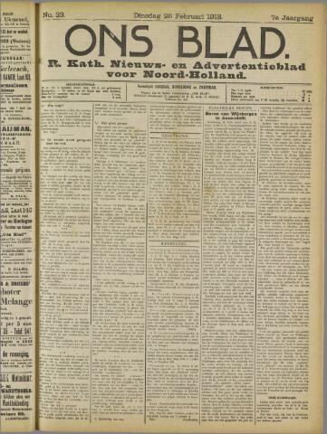 Ons Blad : katholiek nieuwsblad voor N-H 1913-02-25