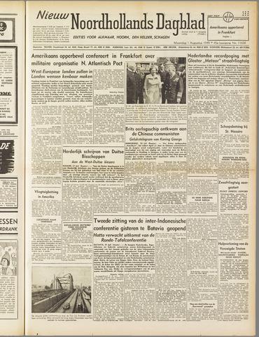 Nieuw Noordhollandsch Dagblad : voor Alkmaar en omgeving 1949-08-01