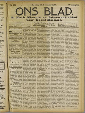 Ons Blad : katholiek nieuwsblad voor N-H 1909-12-25