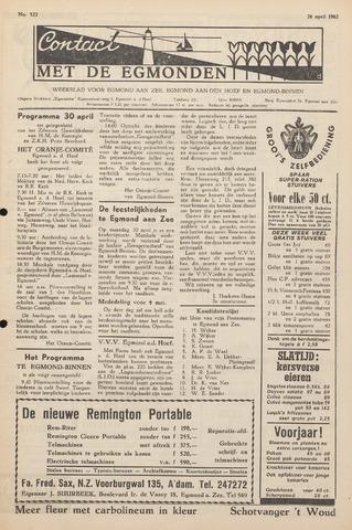 Contact met de Egmonden 1962-04-26