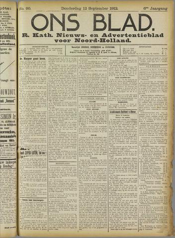 Ons Blad : katholiek nieuwsblad voor N-H 1912-09-12