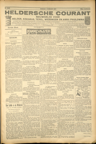 Heldersche Courant 1927-02-01