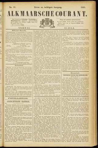 Alkmaarsche Courant 1885-07-10
