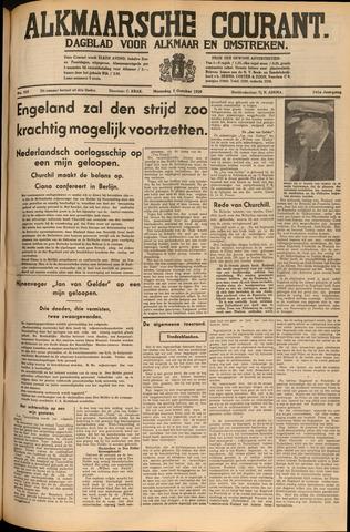 Alkmaarsche Courant 1939-10-02