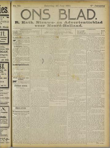 Ons Blad : katholiek nieuwsblad voor N-H 1910-06-25