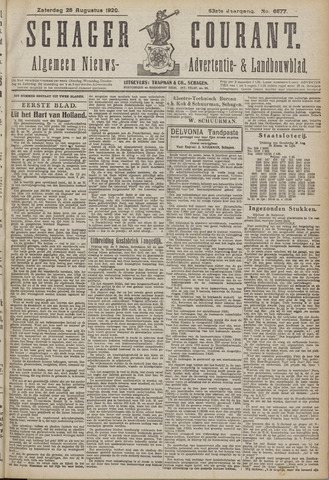 Schager Courant 1920-08-28
