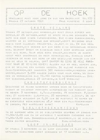 Op De Hoek, weekblad voor Akersloot 1961-10-27