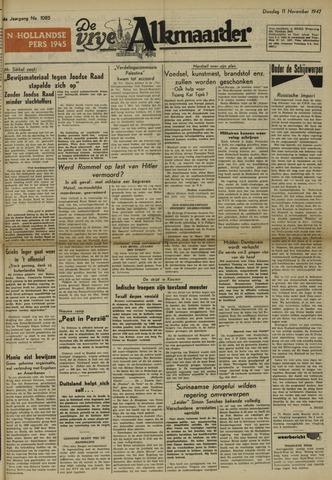 De Vrije Alkmaarder 1947-11-11