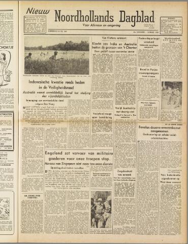Nieuw Noordhollandsch Dagblad : voor Alkmaar en omgeving 1947-07-31
