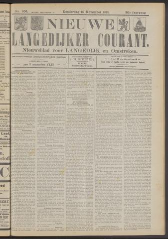 Nieuwe Langedijker Courant 1921-11-10