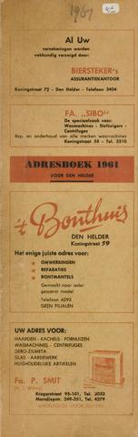 Adresboek van Den Helder 1961-01-01