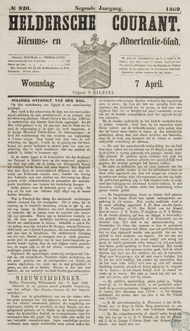 Heldersche Courant 1869-04-07
