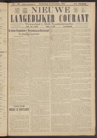 Nieuwe Langedijker Courant 1928-11-15