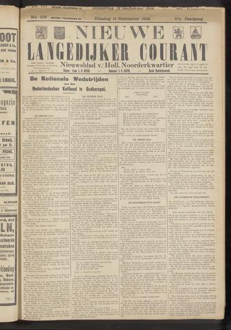 Nieuwe Langedijker Courant 1928-09-11