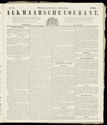 Alkmaarsche Courant 1870-06-26
