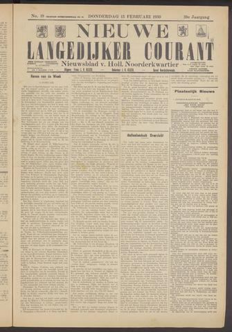 Nieuwe Langedijker Courant 1930-02-13