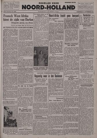 Dagblad Noord-Holland, Schager editie 1942-11-25