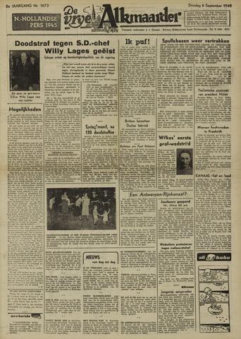 De Vrije Alkmaarder 1949-09-06