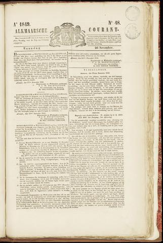Alkmaarsche Courant 1849-11-26