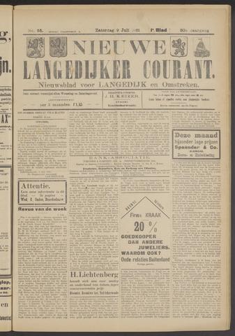 Nieuwe Langedijker Courant 1921-07-09