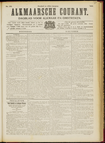 Alkmaarsche Courant 1909-10-13