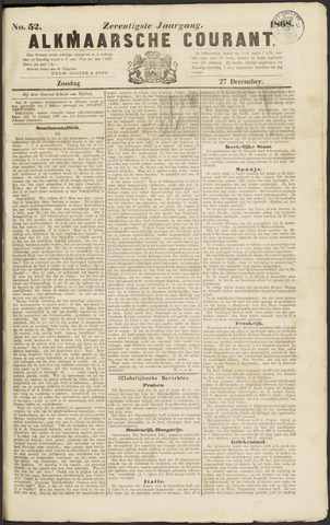 Alkmaarsche Courant 1868-12-27
