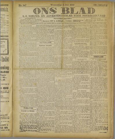 Ons Blad : katholiek nieuwsblad voor N-H 1919-07-02