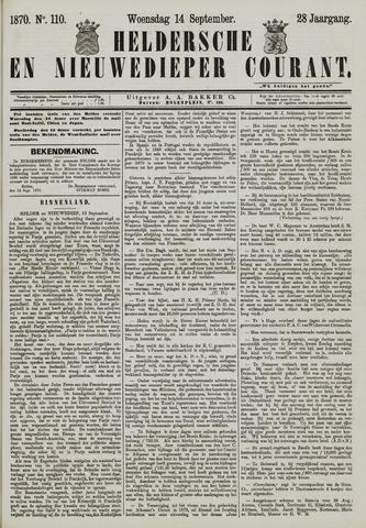 Heldersche en Nieuwedieper Courant 1870-09-14