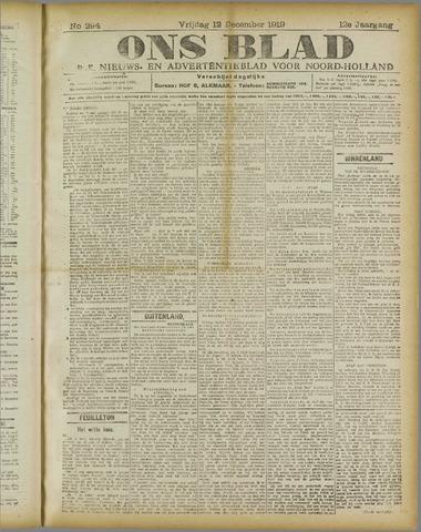 Ons Blad : katholiek nieuwsblad voor N-H 1919-12-12