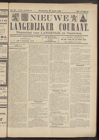 Nieuwe Langedijker Courant 1925-04-30