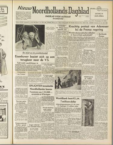 Nieuw Noordhollandsch Dagblad : voor Alkmaar en omgeving 1952-03-21